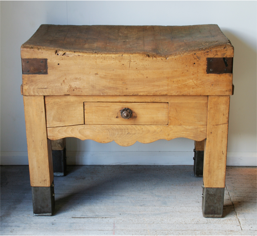 French Beech Butcher S Block Haunt Antiques For The