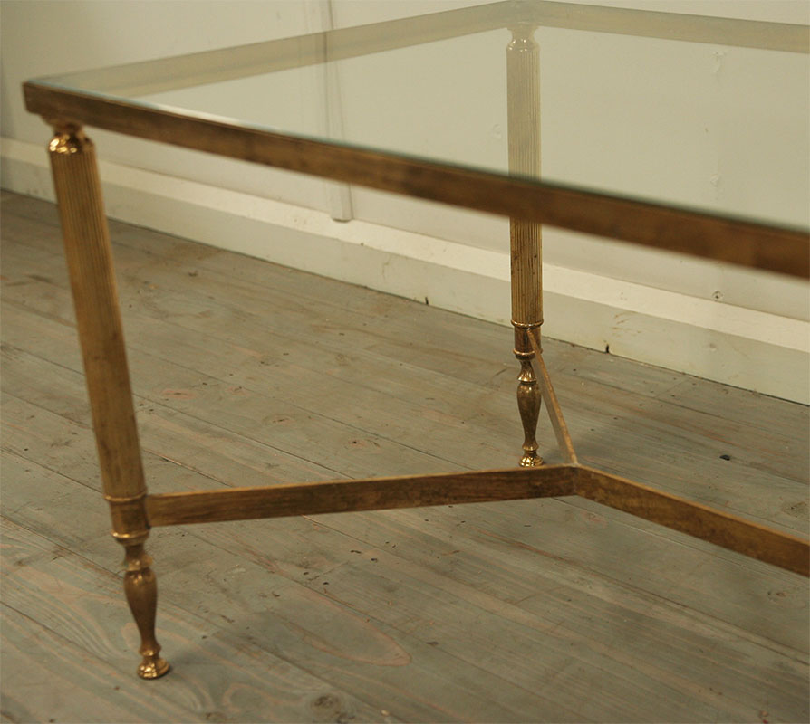 Lift Top Coffee Tables Nz: Maison Jansen Style Brass Coffee Table