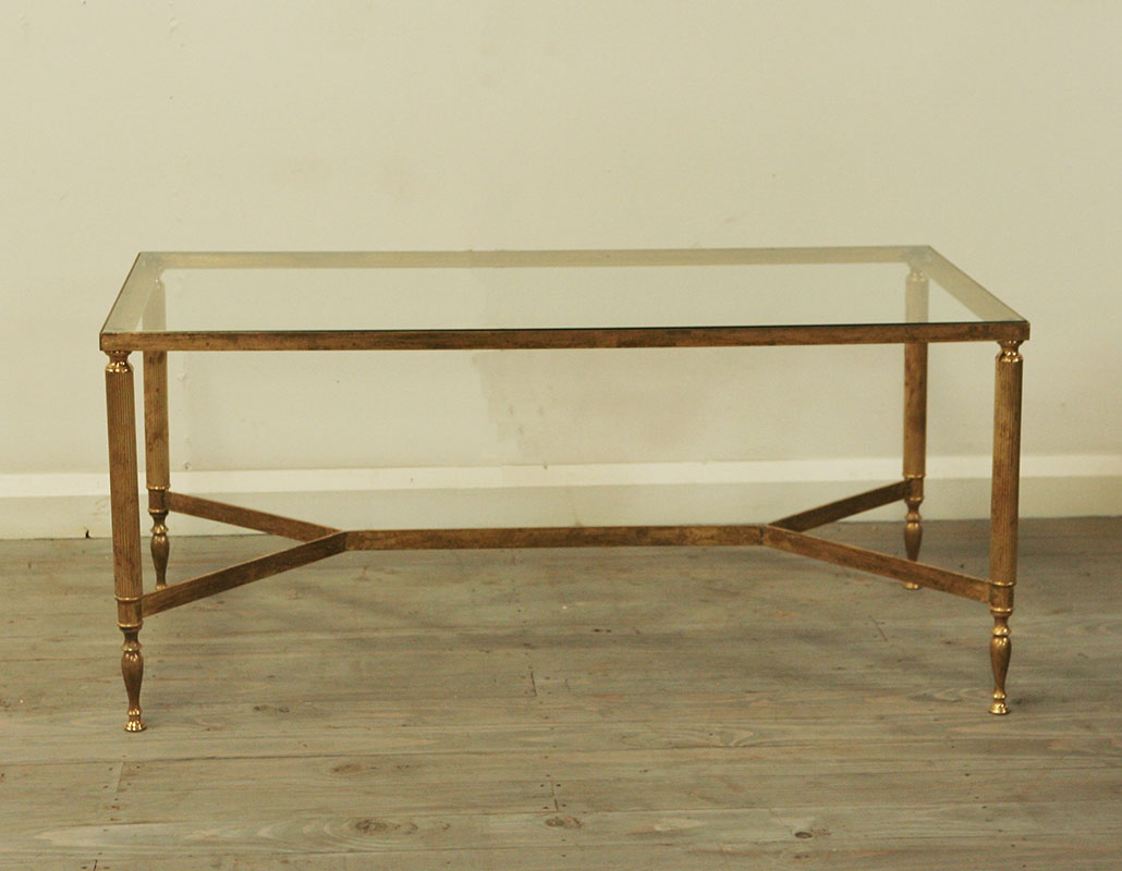 Maison Jansen Style Brass Coffee Table Haunt Antiques For The Modern Interior