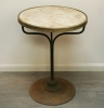 French Brass Edged Café Table