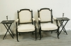 Pair Of Louis 16 Style Ebonised Fauteuils