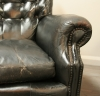 Pair Of Spanish Leather Club Chairs