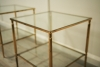 Pair Of Vintage Brass Side Tables