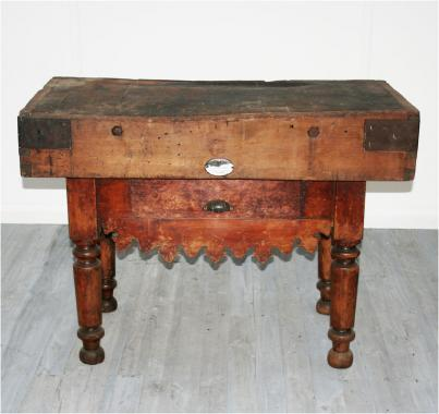 French 19th Century Butcher's Block