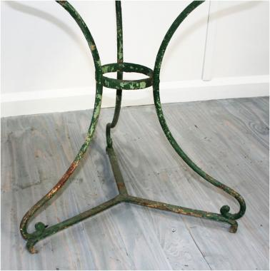 French Green 19th Century Café Table
