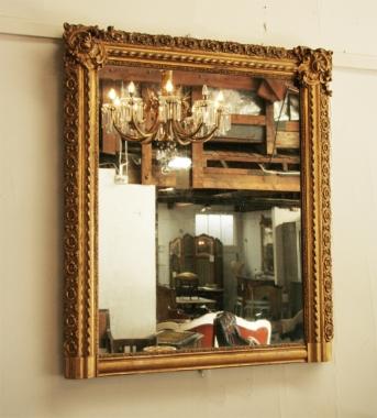 French Belle Époque Gilt Mirror
