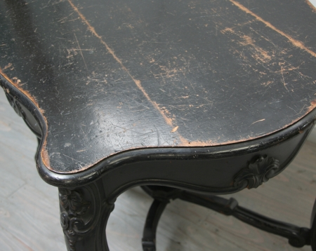 Ebonised Napoleon III Centre Table