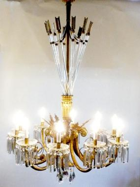 Large and Magnificent French Empire Chandelier