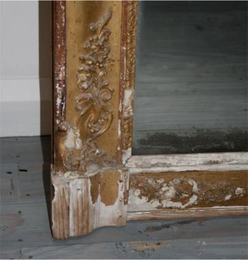 Empire period rectangular gilt mirror