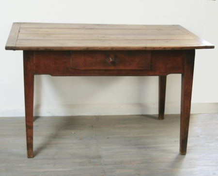 French Merisier Side Table or Small Desk