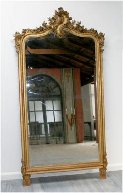 Large Louis 15th style gilt mirror
