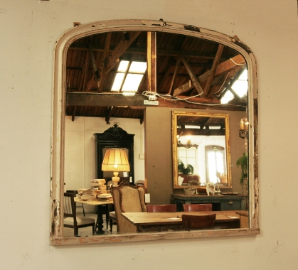 Large English Painted Distressed Mirror