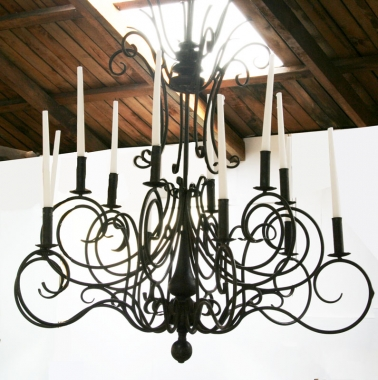 Italianate Iron Candelabra