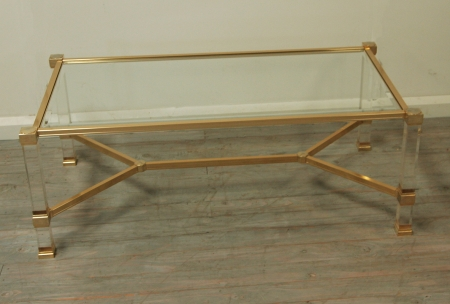 Pierre Vandel Coffee Table With Stretcher Base