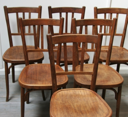 Set Of 6 Baumann Café Chairs