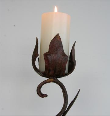 A French Art Naif Candlestick