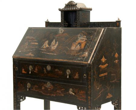 19th Century English Chinoiserie Secrétaire
