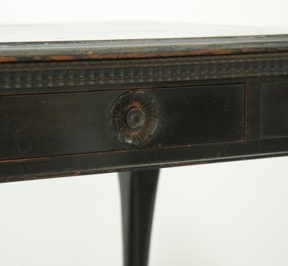 English Chippendale Style Ebonised Desk
