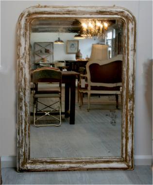 Large Distressed 19th Century Mirror