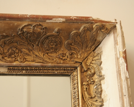 Distressed French Empire Mirror