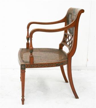 English Sheraton Style Armchair