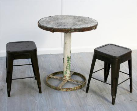 Industrial French Garden Table