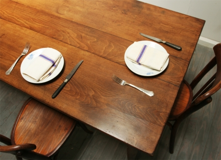 Beech And Fruitwood Farm Table