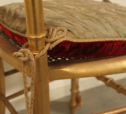 Pair Of Gilt Napoleon III side chairs