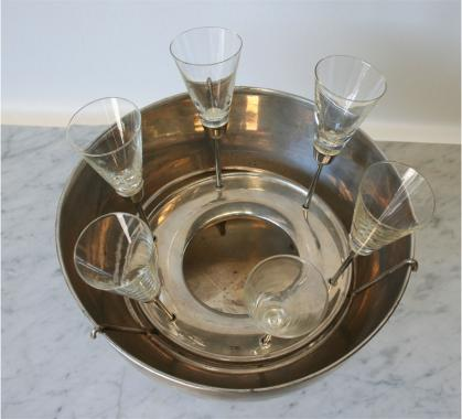 Glamorous Chamagne Bucket and Footless Champagne Flutes