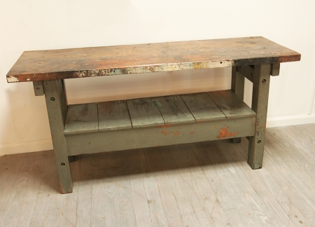 Workbench With Painted Base