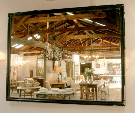 Large Bistro Mirror With Original Glass