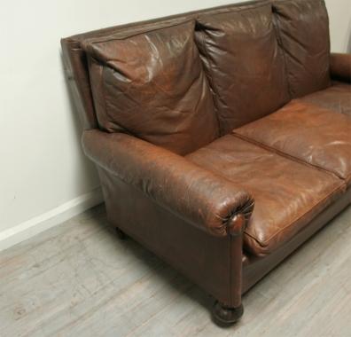 Vintage Leather Settee