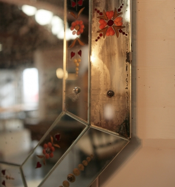 Painted Venetian Mirror