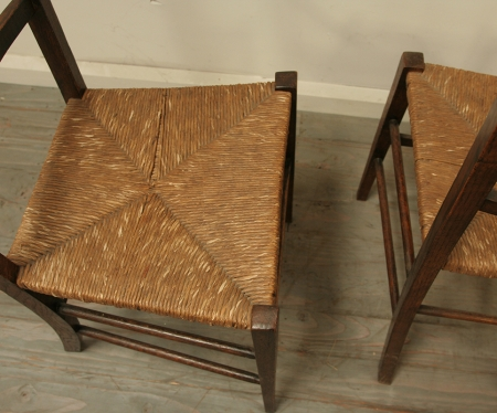 Pair Of Rustic Side Chairs
