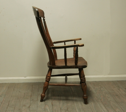Harlequin Pair Of Rustic Splay Backed Chairs