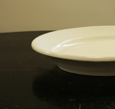 A Collection Of French 19th Century White Ceramic Serving Platters