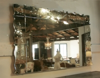 Large 1940's Sectionned Venetian Style Mirror