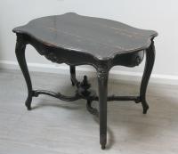 Ebonised Napoleon III Centre Table