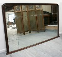 Enormous French 1920's bistro mirror