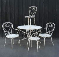 French Wrought Iron Garden Set