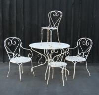 French Wrought Iron Garden Set