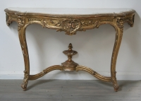 French Louis 15 Style Gilt Console Table