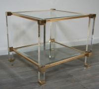 Pierre Vandel Lucite Side Table