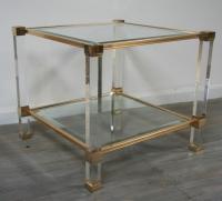 Pierre Vandel Lucite Side Table
