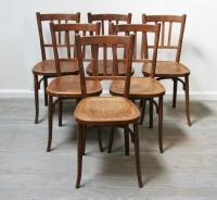 Set Of 6 Baumann Café Chairs