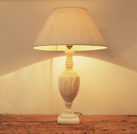 French Vintage Alabaster Lamp