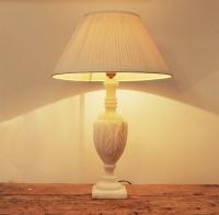 French Vintage Alabaster Lamp