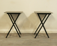 Pair Of American Campaign Style Sidetables