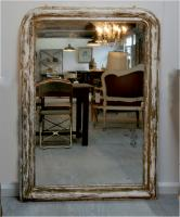 Large Distressed 19th Century Mirror