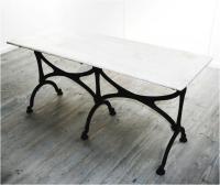 Long French Art Nouveau Café Table